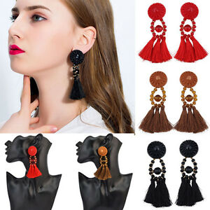 New-Women-Fringing-Earrings-Long-Rope-Tassel-Jewelry-Elegant-Beads-Earrings