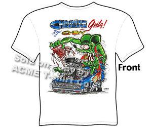 Big Daddy T Shirt Chevelle Guts Rat Fink Clothing Ed Roth Tee, Sz M L XL 2XL 3XL