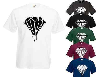 DRIPPING DIAMOND POLO T SHIRT WASTED DOPE HIPSTER TUMBLR FASHION SWAG BLOOD