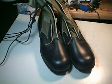 US Military Issue Vietnam Era Canvas Leather Jungle Boots   Old Stock 11 N 1960'