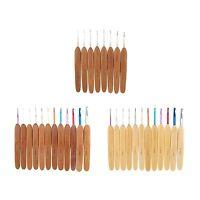 Crochet Hooks 5.5 Bamboo 12 Pc Set, 1mm - 6mm W/ Stitch Marker