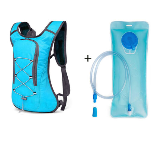 UK 2L Hydration Rucksack Pack Backpack Bag With Water Bladder Running Cycling EL