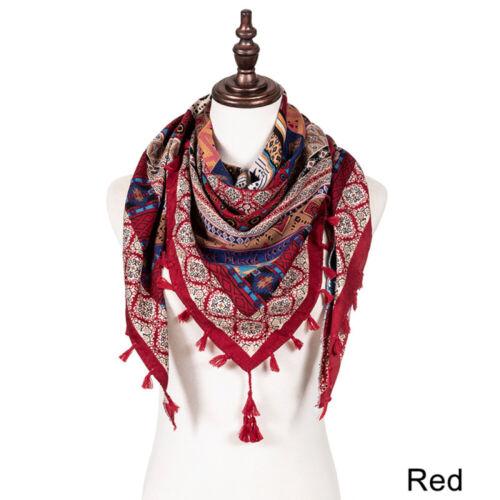 Boho hippy goth RUST RED dip dye long tassel LETTUCE OF LONDON scarf wrap gift