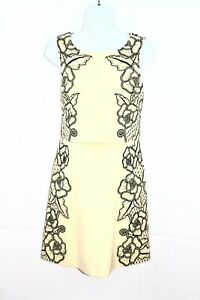 KAREN-MILLEN-Yellow-Black-Special-Occasion-Mother-of-the-Bride-Dress-UK-12