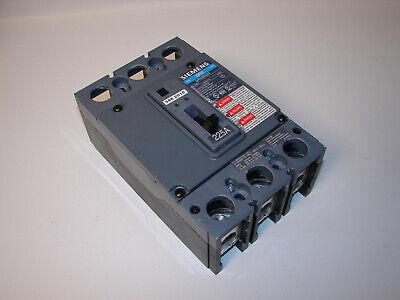 Siemens HFD HFD63F250 3 POLE 600V 225 AMP TRIP HFD63225 CIRCUIT BREAKER