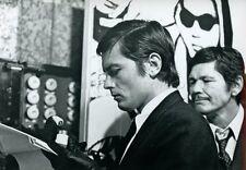 ALAIN DELON  CHARLES BRONSON ADIEU L'AMI 1968 VINTAGE PHOTO