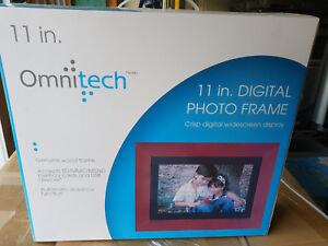 Omnitech 11in digital photo frame   ebay.