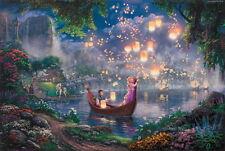 "Print Art Canvas /Disney tangled  /Rapunzel /children decor Wall 12""×16"""