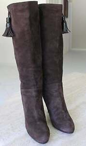 COLE HAAN AIR BROWN SUEDE KNEE LEATHER KNEE SUEDE HIGH Stiefel WOMEN SZ 9.5 B     82be70
