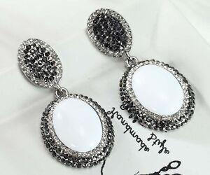 1-Pair-Elegant-White-Crystal-Rhinestone-Ear-Drop-Dangle-Stud-long-Earrings-177