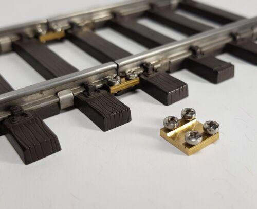 10 Gleisverbinder für  das Spur 1 Gleis mit Edelstahlschrauben NEU