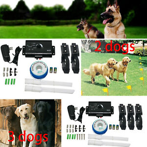 Dog-Pet-Electronic-Fence-System-With-3-2-Waterproof-Shock-Collars