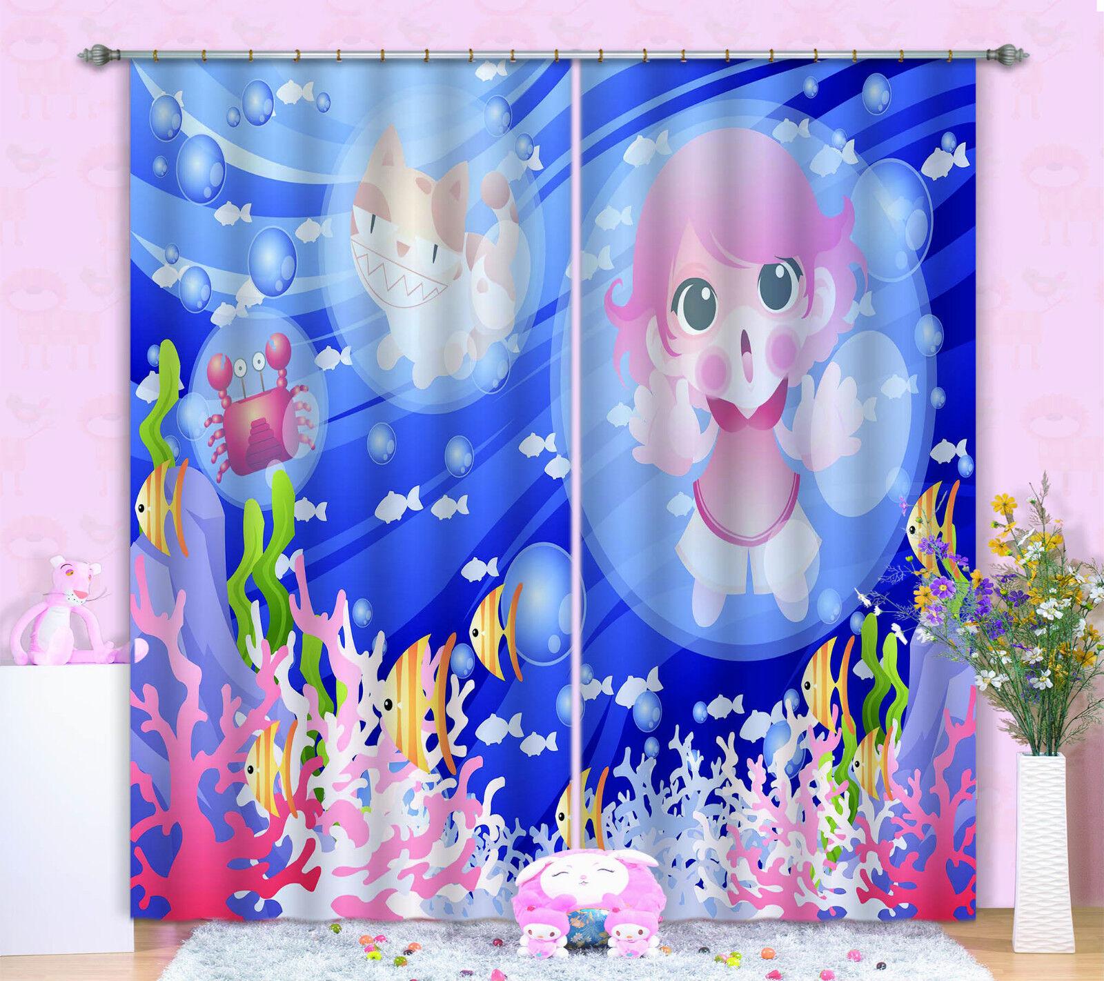 3d Oceano bambina 463 blocco foto sipario pressione sipario tende tessuto finestra de