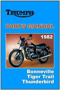 Triumph Parts Manual T140 Tr7t Tr65 1982 Replacement Spares Catalog