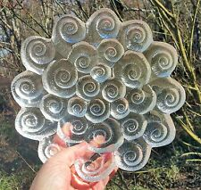 ESCARGOT SALAD mcm scandinavian glass vtg danish table art per lutken snail bowl