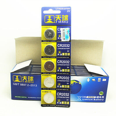Lots 5PCS CR2032 DL2032 LM2032 Button Cell Coin Battery for Watch Toys Remote JP