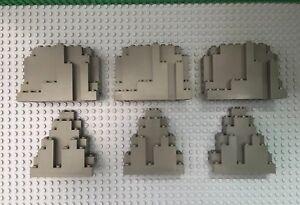 LEGO-Lot-of-6-Old-Dark-Gray-Rock-Panel-3x8x7-amp-4x10x6-LURP-BURP
