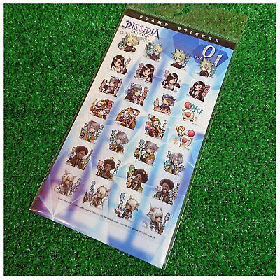 Dissidia Final Fantasy Stamp Sticker// Cloud Tifa Kefka Artnia SQUARE ENIX