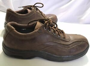 Dunham-Men-039-s-Brown-Slip-Resistant-Highland-Park-Oxford-Work-Shoes-size-11D-5