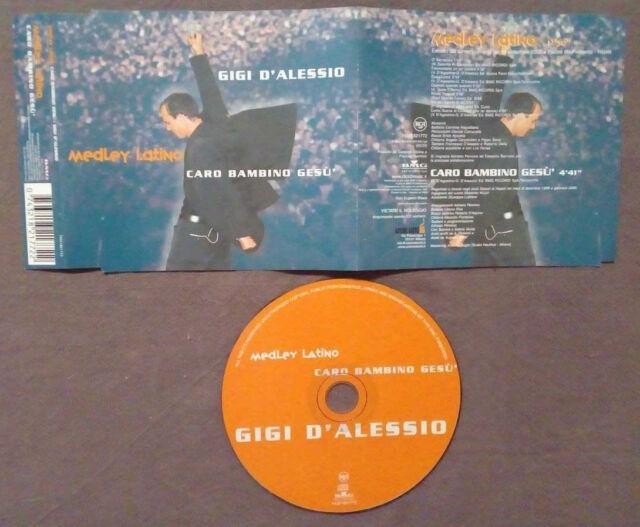 CD SINGOLO Gigi D'Alessio Medley Latino Caro Bambino Gesu'neomelodico no lp(S1)