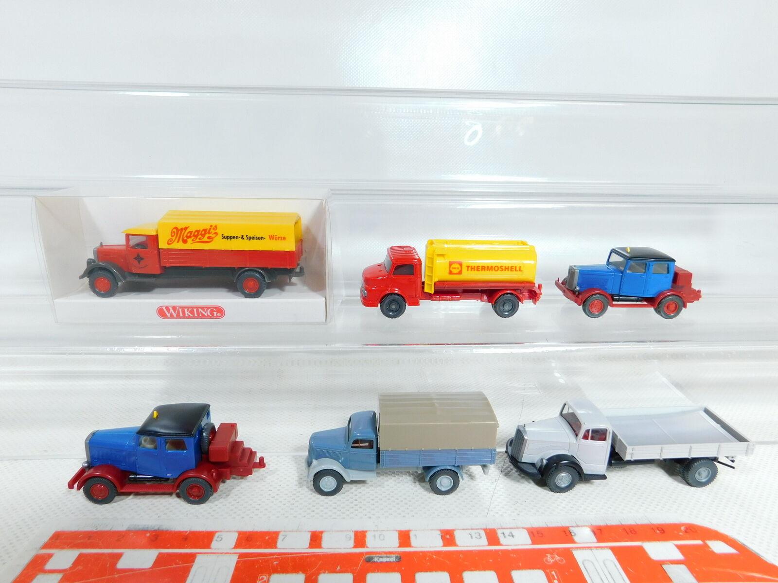 BX391-0,5 x Wiking 1 87   H0 Camión  Hanomag + MB Shell   Maggis + Opel,Nuevo