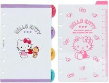 Hello Kitty V2022 Mini 6 Hole Planner Refill Schedule Calendar Sanrio