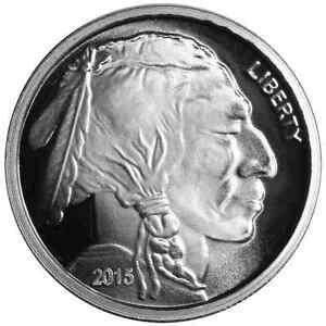 1 Troy Oz 2015 Buffalo 999 Fine Silver Round Ebay