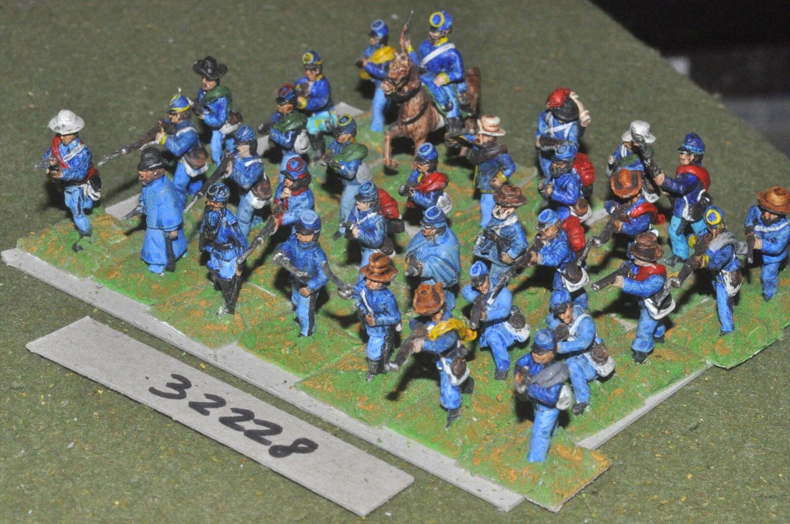 25mm ACW   union - mixed (as photo) 32 figures - inf (32228)