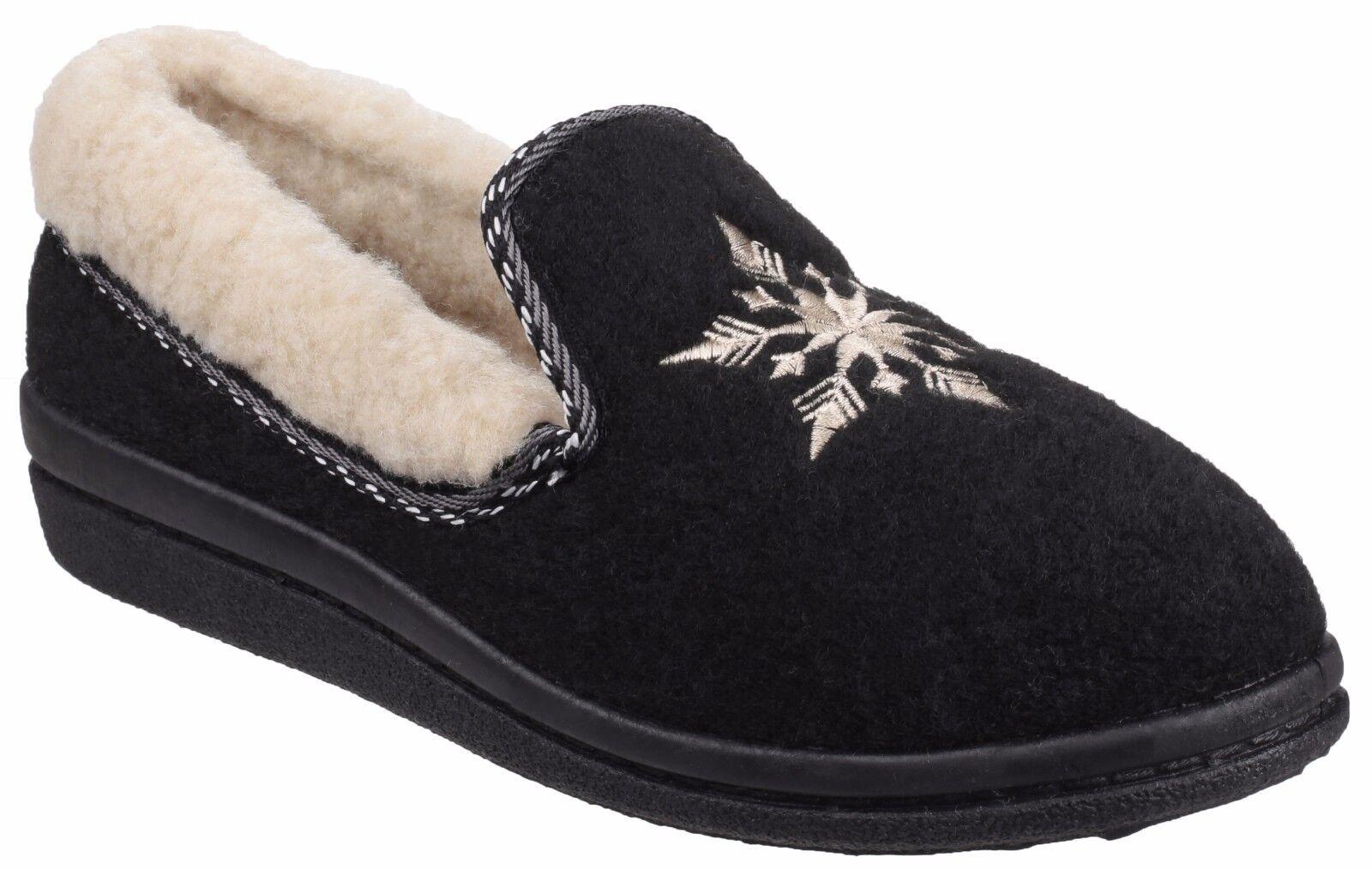 Mirak Ladies Slip on Warm Lined Slippers Style Snowflake Colour Various sz 36/41