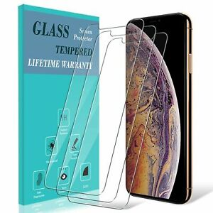 3-Pack-For-iPhone-XS-Max-XR-X-8-7-6S-Plus-Tempered-Glass-Screen-Protector-Guard