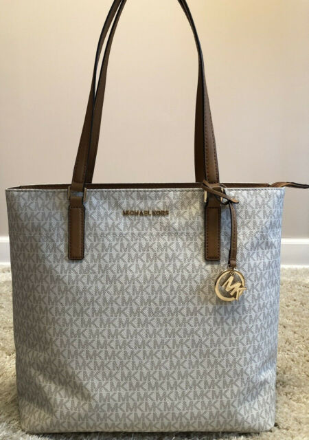 f2e936c018bd Michael Kors Morgan Large Tote Purse Vanilla Style 38H6GOGT3B for ...