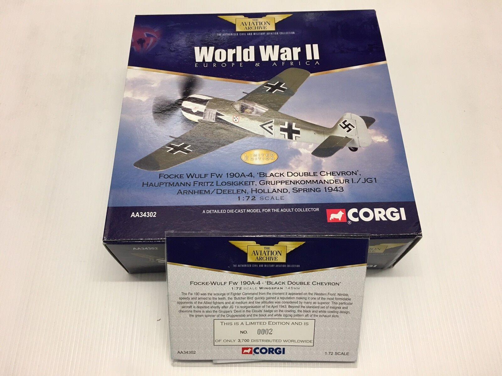 Corgi AA34302 AA34302 AA34302 FW 190A I JG 1