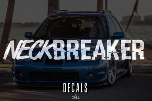 Euro Decal Sticker Neck Breaker Banner