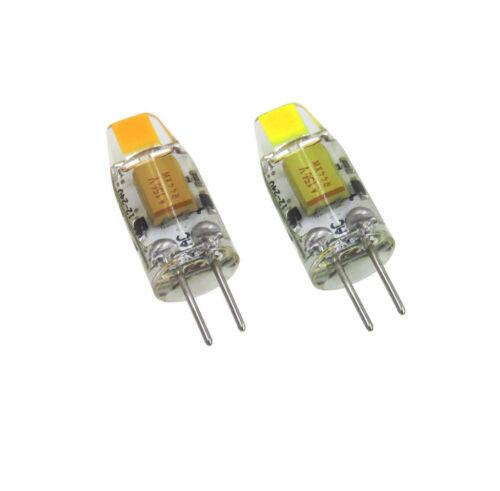 10pcs G4 GU4.0 T3 LED Light Bulb RV//Boat Lamp COB 0705 DC 12V~24V 1W Warm//White