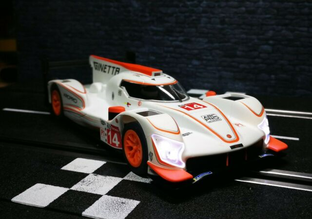 "1/32 Slotcar Scalextric Ginetta G60-LT-P1 #14 "" Le Mans "" Ref. C4061"