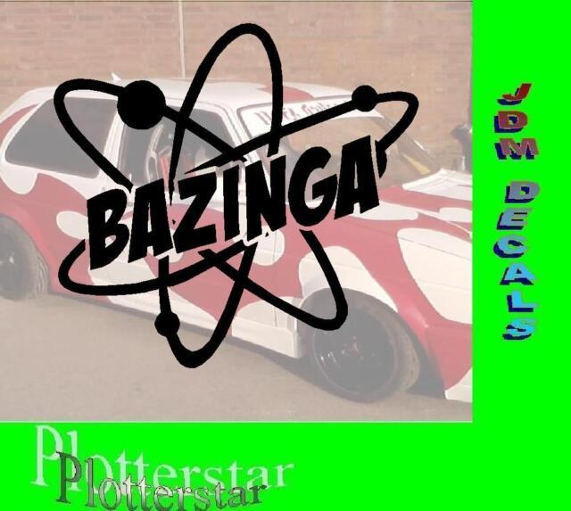 Bazinga Atom  JDM Sticker Aufkleber oem Power fun like Shocker Drift