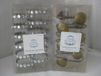 Simply Shabby Chic Clear Rhinestone Or Etched Brass Shower Hooks Set Of 12
