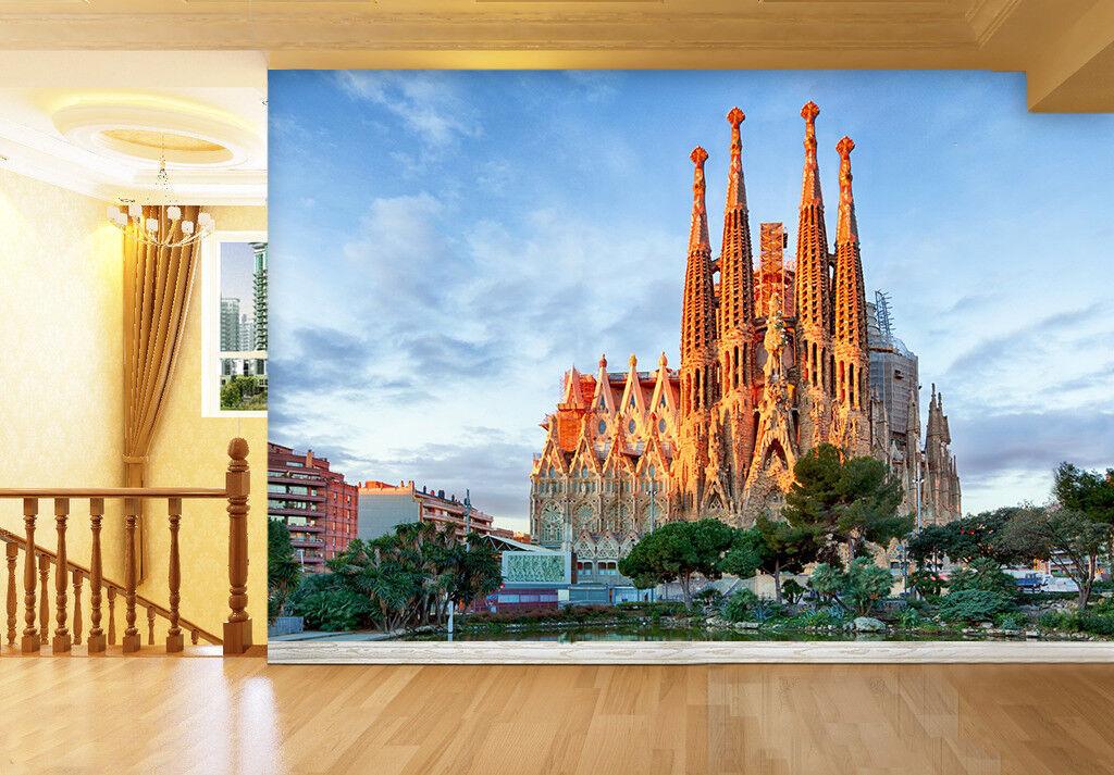 3D Barcelona Castle 88 Wall Paper Murals Wall Print Wall Wallpaper Mural AU Kyra