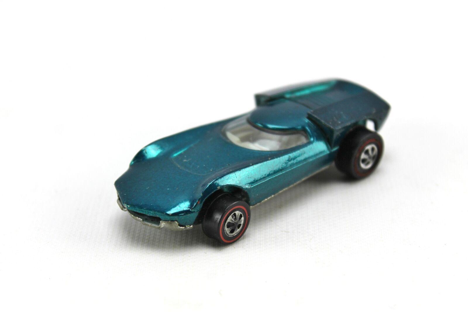 Entrega gratuita y rápida disponible. 1968 Turbofire Aqua Azul verde rojoline Hot Hot Hot Wheels DIECAST EE. UU. 1 64  se descuenta