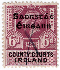 I-B-George-V-Revenue-County-Courts-Ireland-6d-Free-State-OP