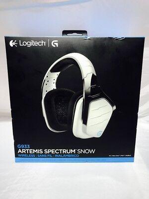 Logitech G933 On-Ear Wireless Gaming Headphones - White Model : 981-000620    eBay