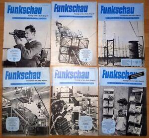 15x-Funkschau-1956-Funktechnik-Zeitschrift-Hefte-alt-Franzis-Radio-TV-Kamera