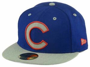 bd53264b7f0 Chicago Cubs Full Heather 59FIFTY Royal Blue Gray Fitted New Era Cap ...