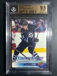 2016-17-Upper-Deck-Patrik-Laine-Young-Guns-Canvas-Rookie-BGS-9-5-True-Gem-Mint