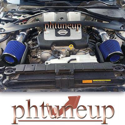 BLACK BLUE Air Intake Kit /& Filter kit For For 2008-2013 Infiniti G37 3.7L V6