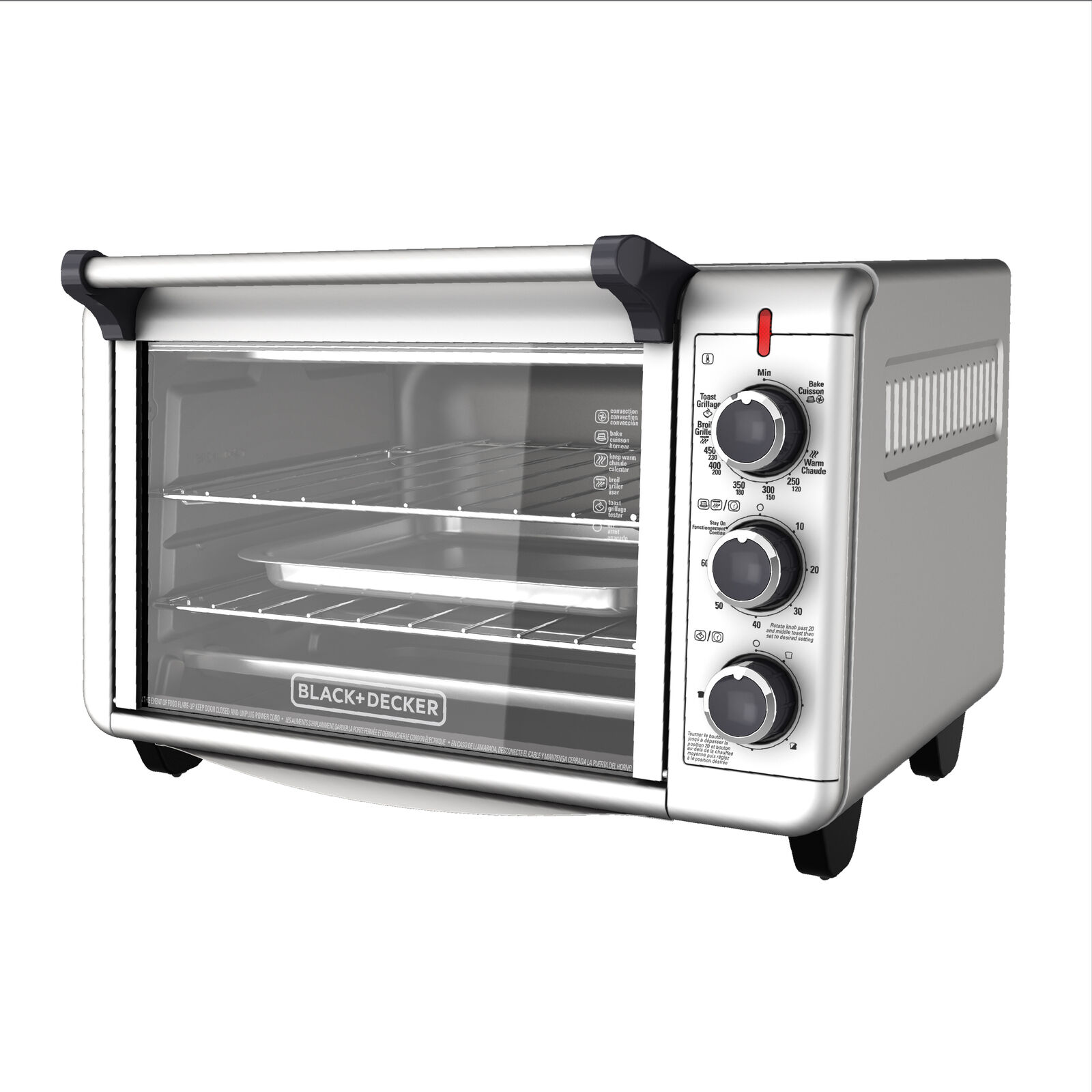 Toaster Oven Countertop Convection Ovens 2 Shelf 6 Slice Stainless Steel Finish