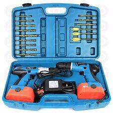 Powerlynx 18V Twin Cordless Drill Set Heavy Duty Power Hammer (Inc. 4 Batteries)