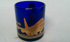 Vintage BOEING AIRCRAFT BLUE GLASS  747 FOD COFFEE  MUG FOREIGN OBJECT DAMAGE