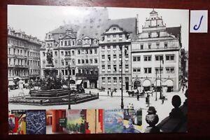Livraison Rapide Carte Postale Vue Carte Saxe Leipzig Feuilles Un Morceau De Leipzig-afficher Le Titre D'origine Sang Nourrissant Et Esprit RéGulateur