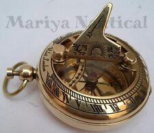 Solid Brass Sundial Compass Pocket Compass Nautical Decor Maritime Gift